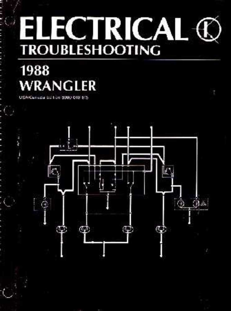 1987 1988    Jeep       Wrangler       YJ    Electrical Service Manual    Diagrams    Schematics    Wiring      eBay