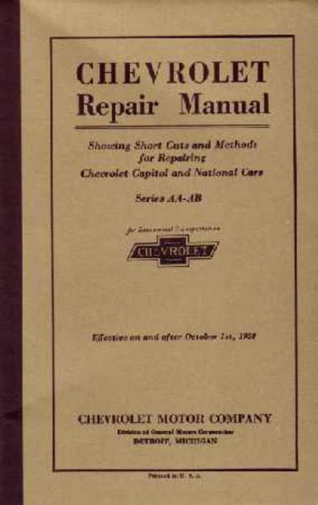 1927 1928 Chevrolet Car Truck Shop Service Repair Manual ...