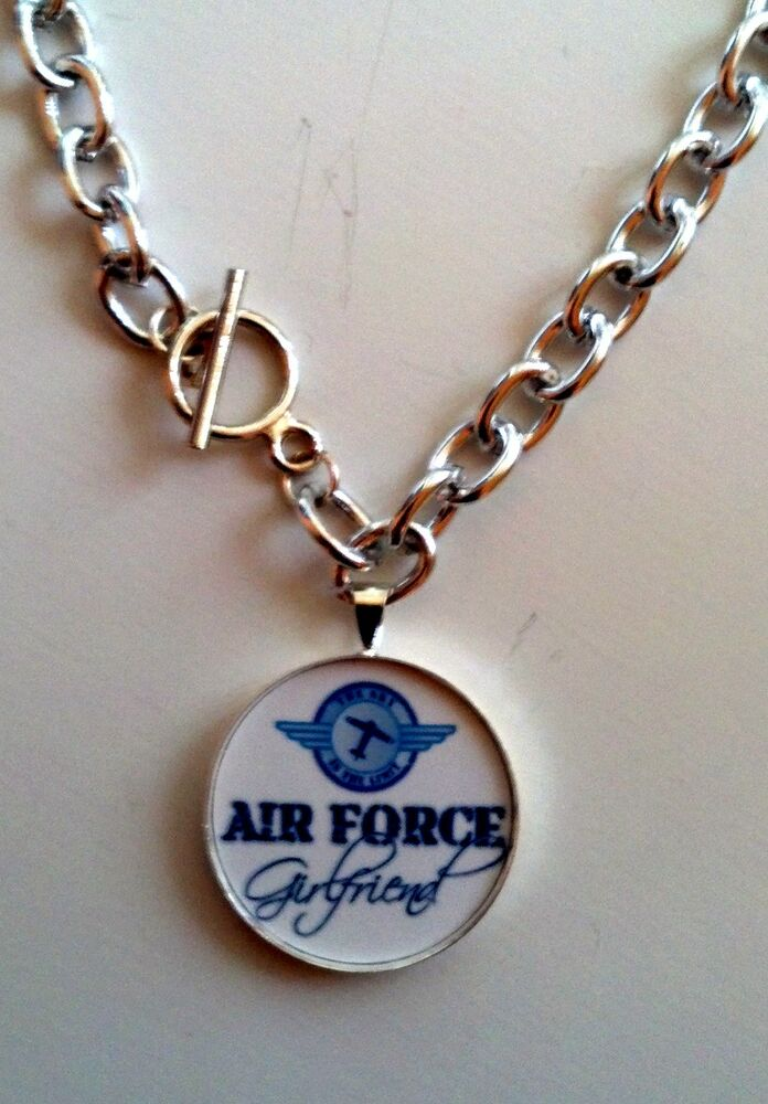 air force girlfriend charm necklace ebay. Black Bedroom Furniture Sets. Home Design Ideas