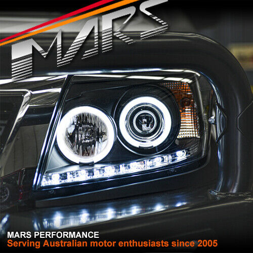 Toyota Hilux Vigo 11-14 Black Drl Led Ccfl Angel-Eyes-9082