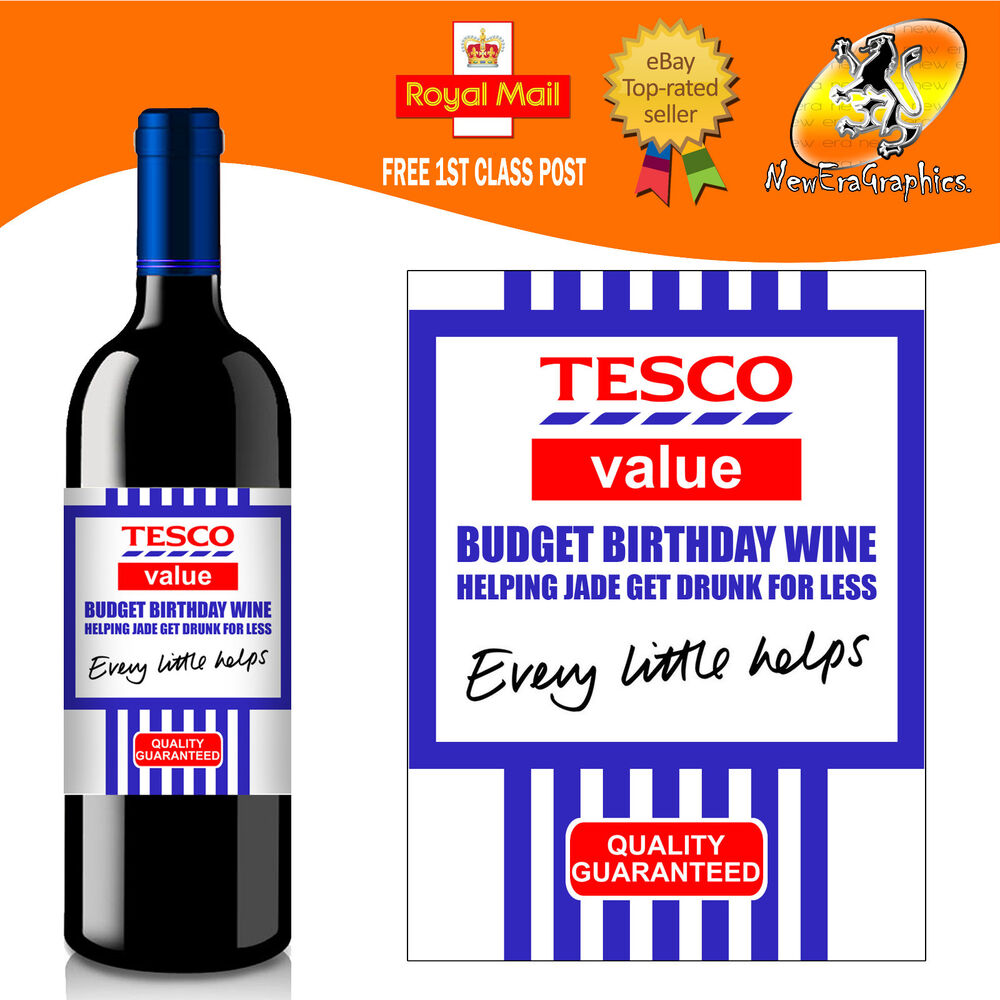 Personalised Funny Wine Bottle Label Birthday All