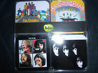 THE BEATLES OFFICIAL APPLE SET OF FOUR DRINKS COASTERS BRAND NEW ! MINT