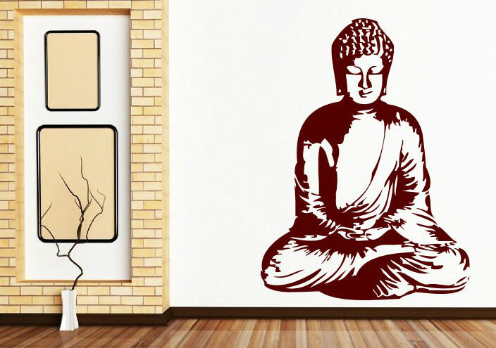 meditating buddha - beautiful wall stickers decals decors. many