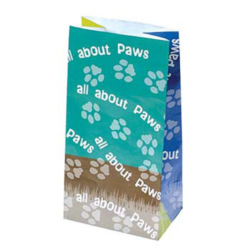 12 Cat Dog Paw Print Paper Bags Kids Party Goody Loot Gift