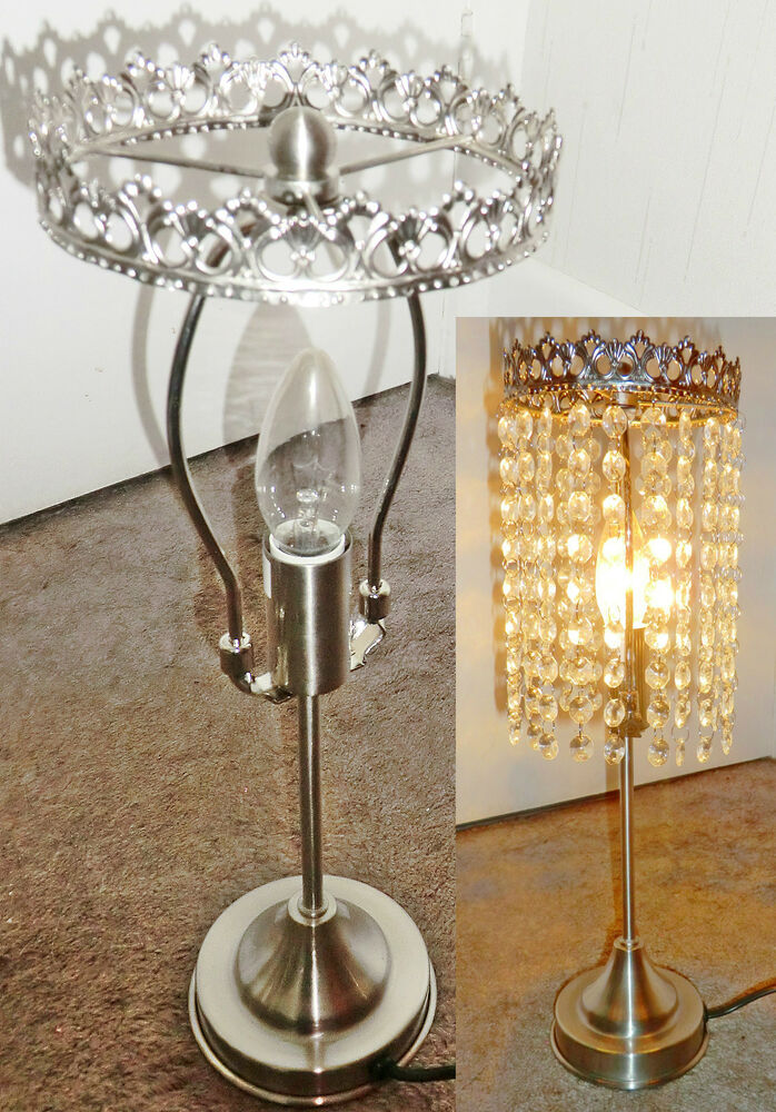 Make ur own chandelier table kit light lamp no drops for How to make your own chandelier