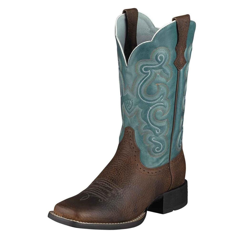 ariat s quickdraw 11 quot cowboy western boots brown