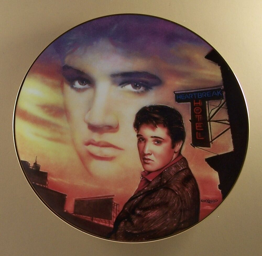 Hotel Collection Plates: HEARTBREAK HOTEL Plate Elvis Presley Hit Parade Collection
