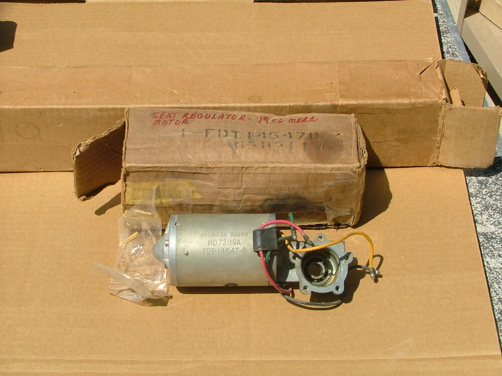 1956 mercury lincoln continental power seat motor nos for Power seat motor suppliers