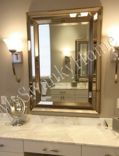 Large Art Deco Designer Wall Mirror Hollywood Glass Frame Venetian