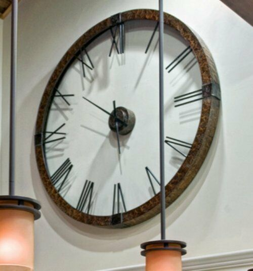 Extra Large Copper Open Wall Clock Designer Openwork Xl