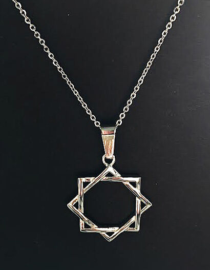 Seal Of Melchizedek Interwoven 8 Point Star Stainless Lds