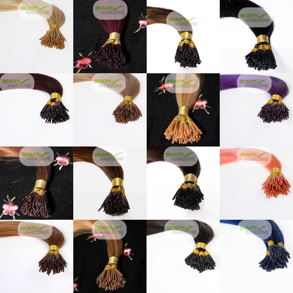 ... 100 Real Natural Stick Tip I Tip Itip Human Hair Extensions | eBay
