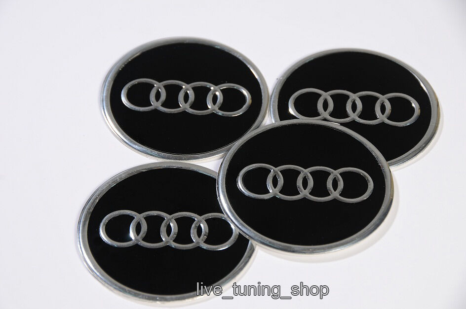 audi 4x60mm aufkleber emblem felgenaufkleber logo a1 a2 a3. Black Bedroom Furniture Sets. Home Design Ideas
