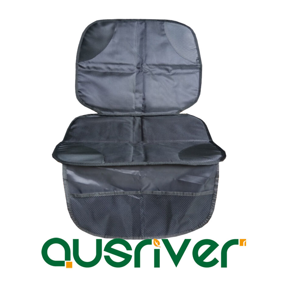 car baby kids seat protector seat cover mat anti slip silicone storage pockets ebay. Black Bedroom Furniture Sets. Home Design Ideas