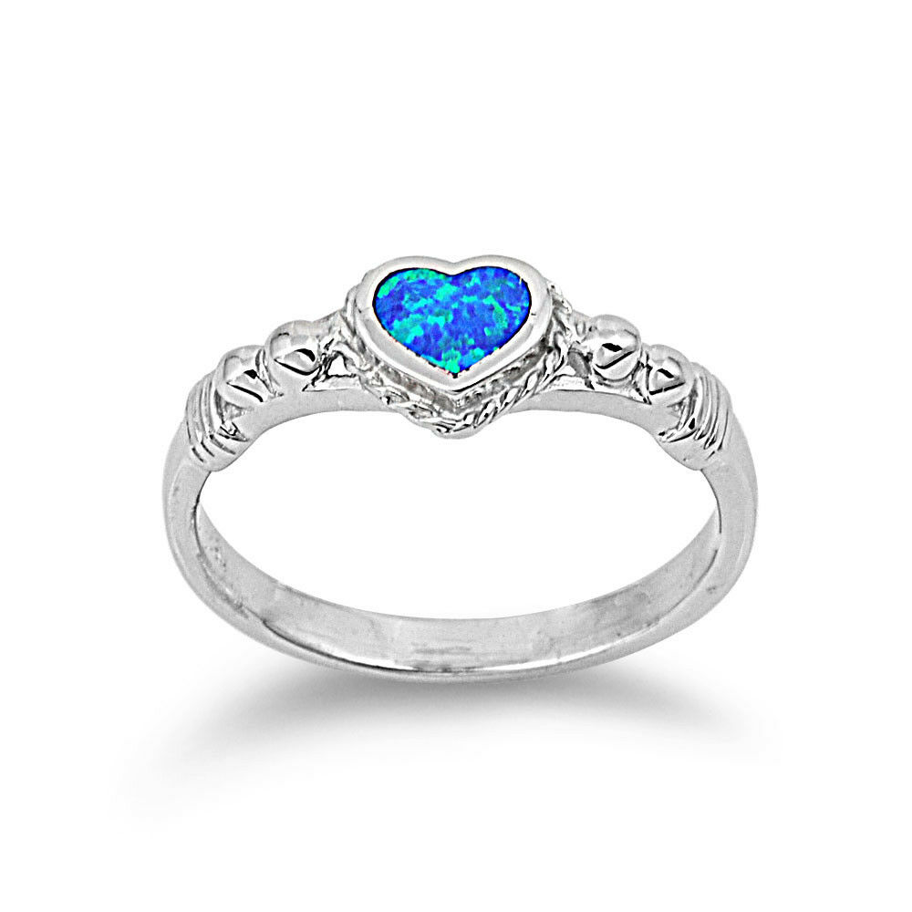 925 sterling silver shape simulated blue opal