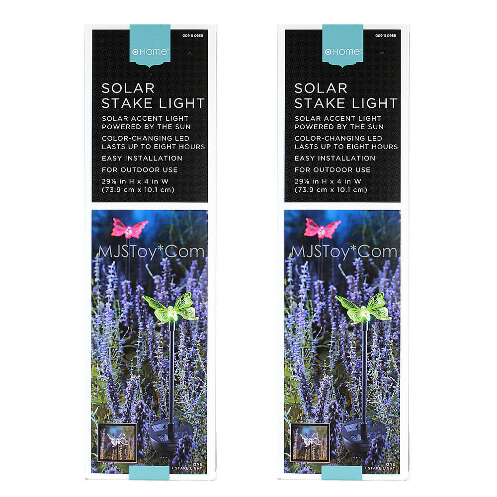 nib home outdoor solar stake accent rotating 8 hr led
