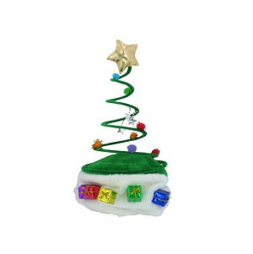 Christmas Tree Hats: Santa Hat CHRISTMAS TREE COIL Green Twisted Spiral Cap