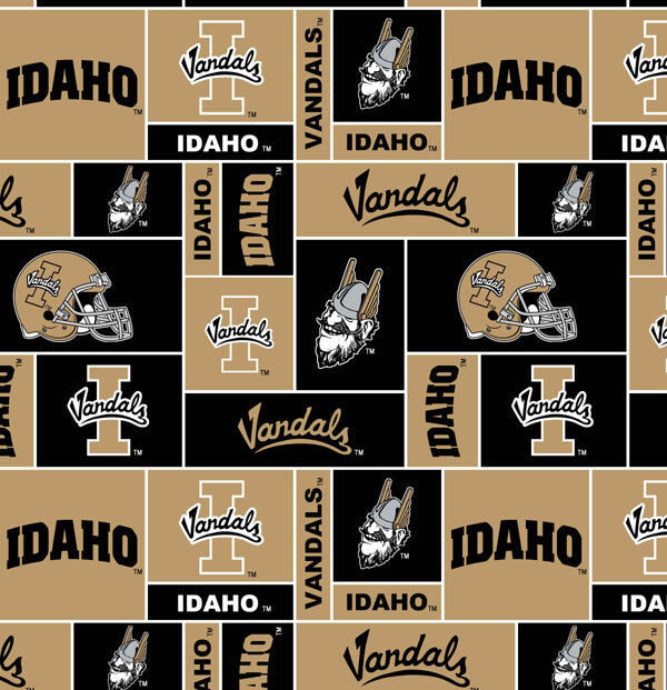 college university of idaho vandals fleece fabric print by the yard sid012s ebay. Black Bedroom Furniture Sets. Home Design Ideas