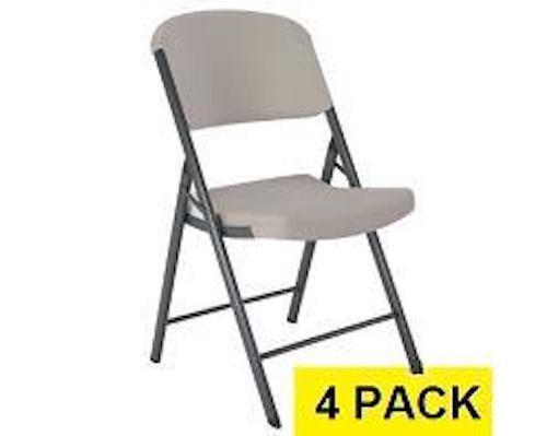 Lifetime Folding Chairs Putty Colored 4 Pack
