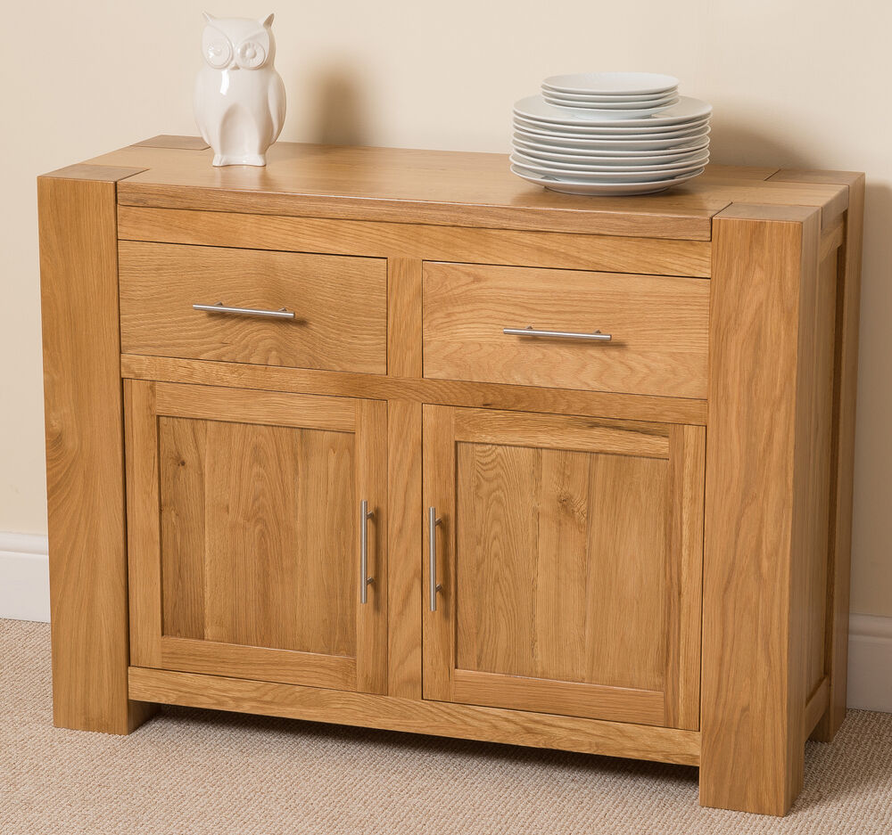 Kuba solid oak wood small sideboard drawers and doors