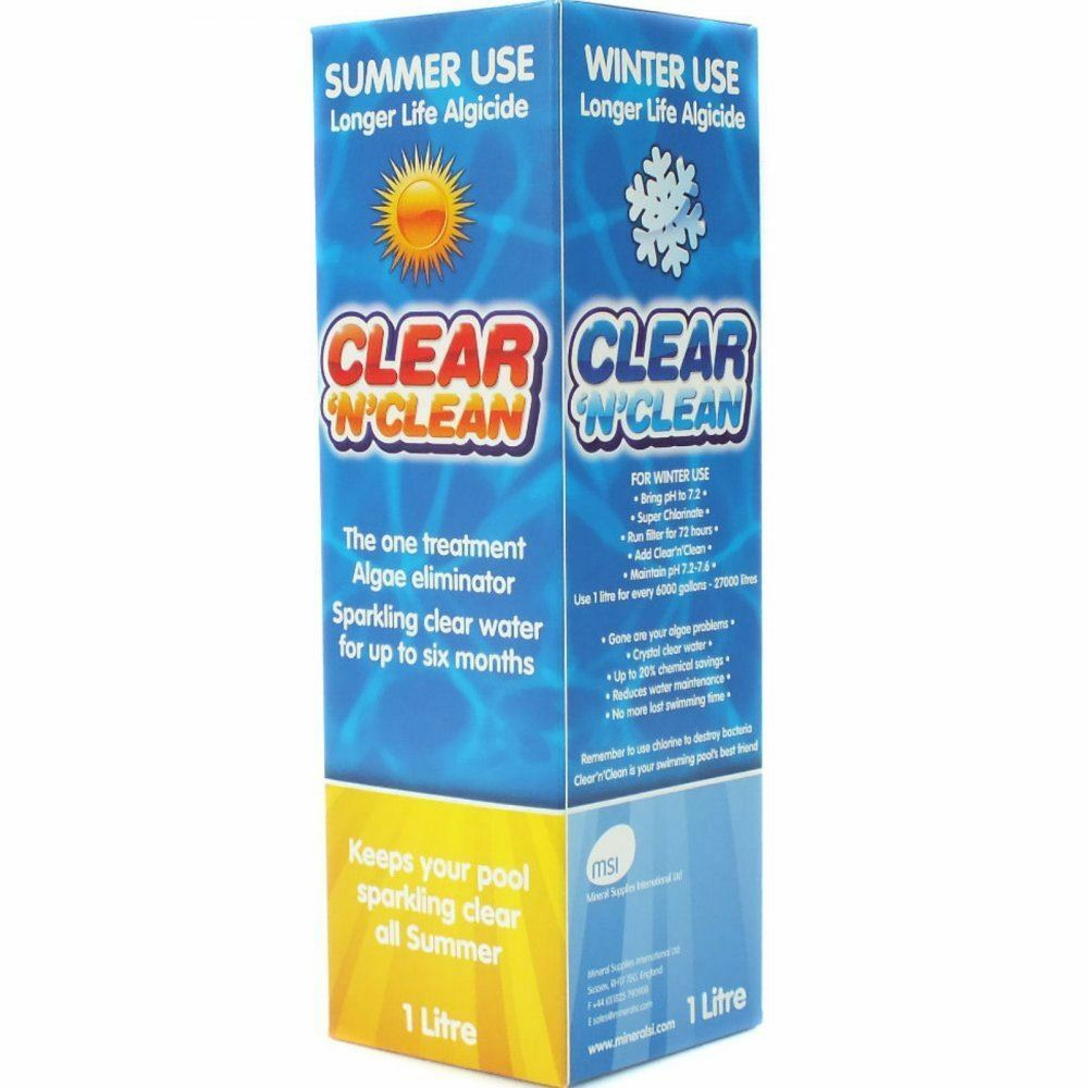 Clean n clear swimming pool winter summer algaecide pool - Swimming pool cleaning chemicals list ...