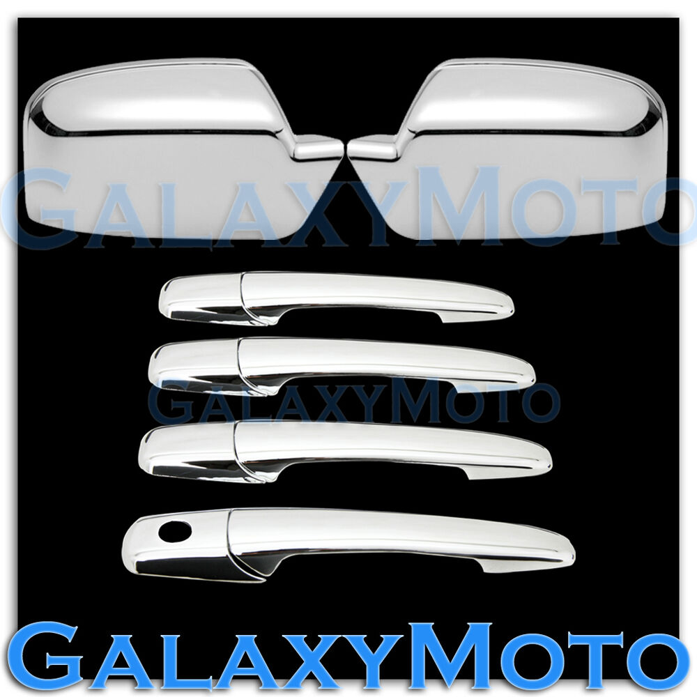 2006 Ford Fusion Door Handle >> 06-12 Ford Fusion+06 Lincoln Zephyr Chrome Mirror+4 Door handle no PSG KH Cover | eBay