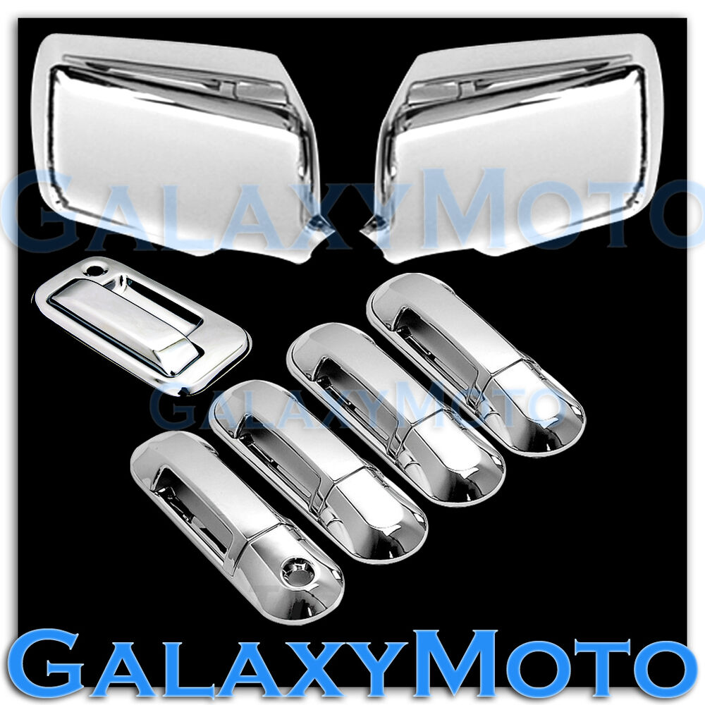 06 10 ford explorer sport trac chrome mirror 4 door handle tailgate cover ebay. Black Bedroom Furniture Sets. Home Design Ideas