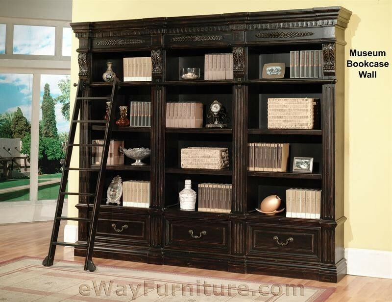 Parker House Grand Manor Palazzo Museum Bookcase Wall Black Wood Furniture | eBay