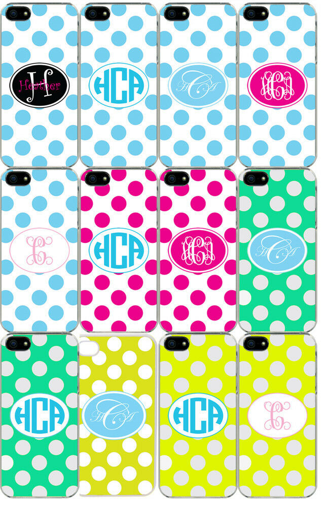 Personalized Monogrammed iPhone 5 Custom Sticker on Hard Case Cover ...