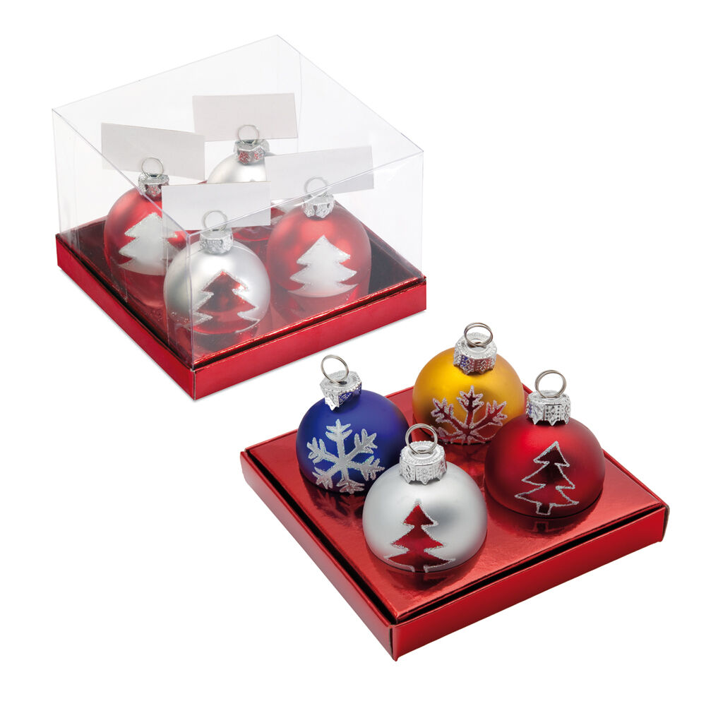 4 BAUBLE NAME CARD HOLDERS