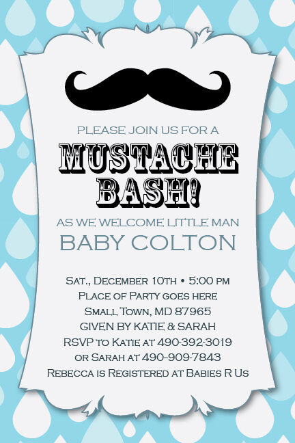 LITTLE MAN MUSTACHE Bash Printable 1st Birthday Party Baby ...