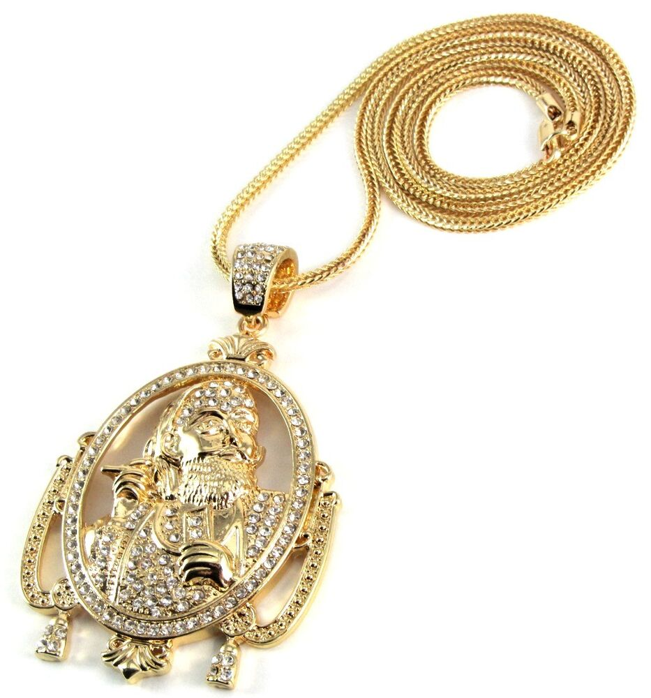large iced out zig zag pendant w 30 36 quot chain necklace