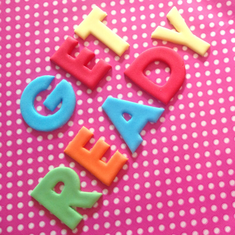 Cake Decorations Letters Uk : Fondant Edible LETTERS NUMBERS 4cm Cupcakes Cakes ...