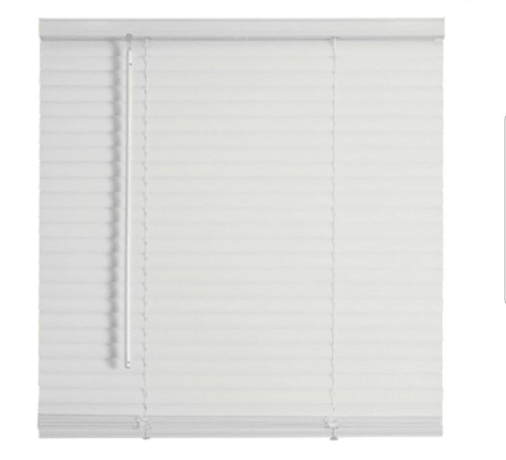 White vinyl miniblind 48 w x 48 h mini blind 48w x 48l for 12x48 window