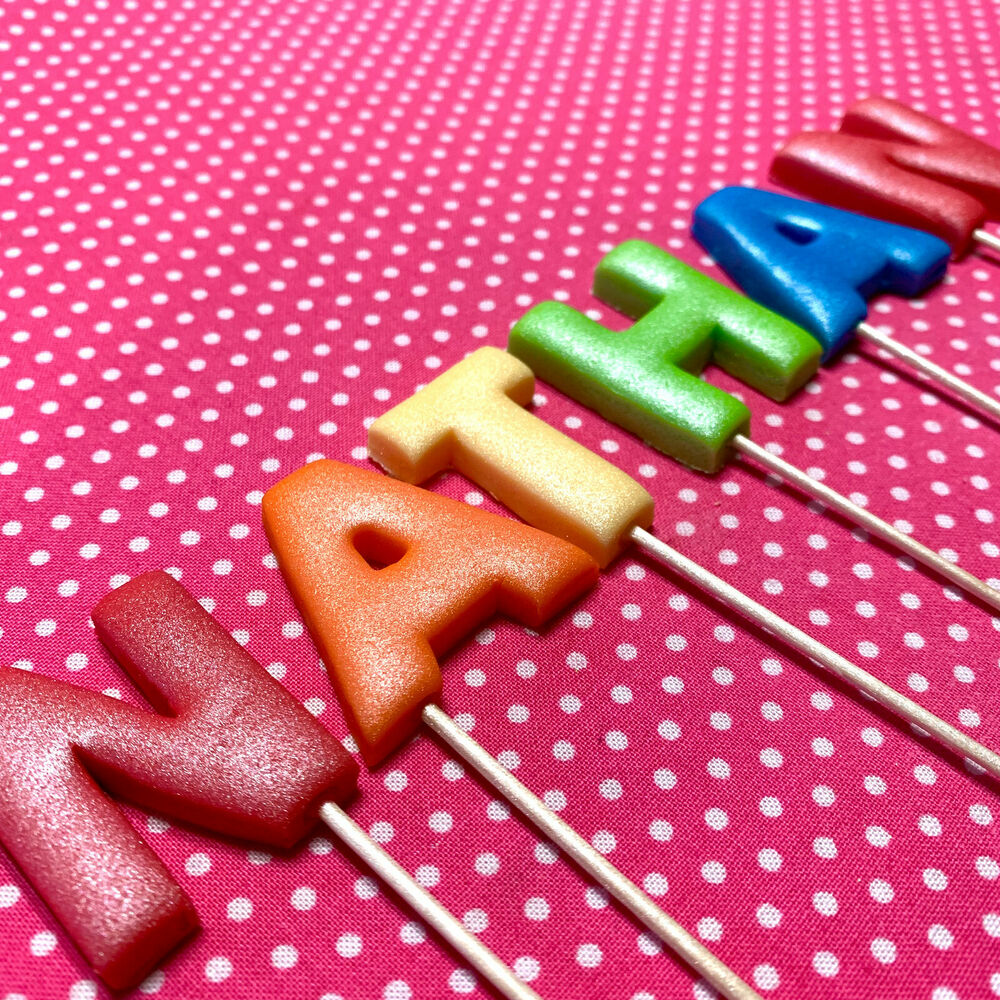 Edible Cake Decorations Numbers : 3D Edible 4cm 40mm Wired NUMBERS Cupcake Cake Topper ...