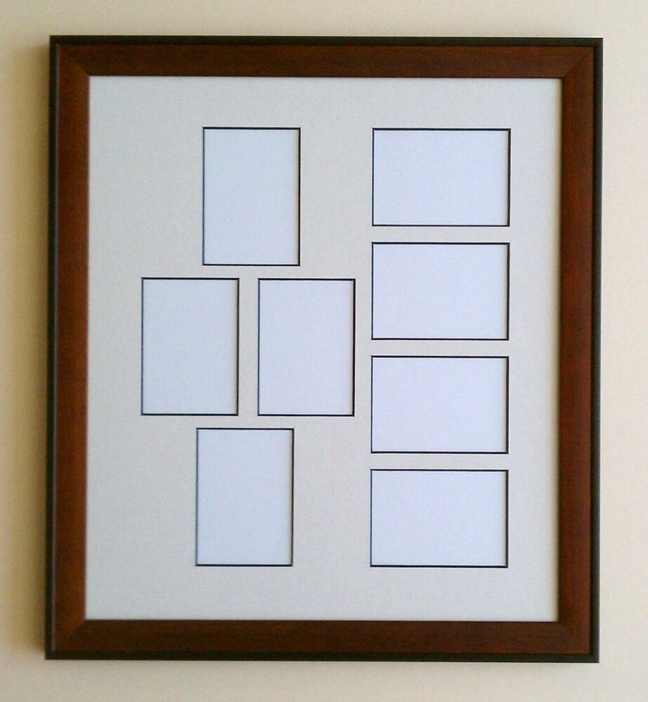 11x14 brown black wood ivory black core matted frame 2 5 x 3 5 aceo 8 openings ebay. Black Bedroom Furniture Sets. Home Design Ideas