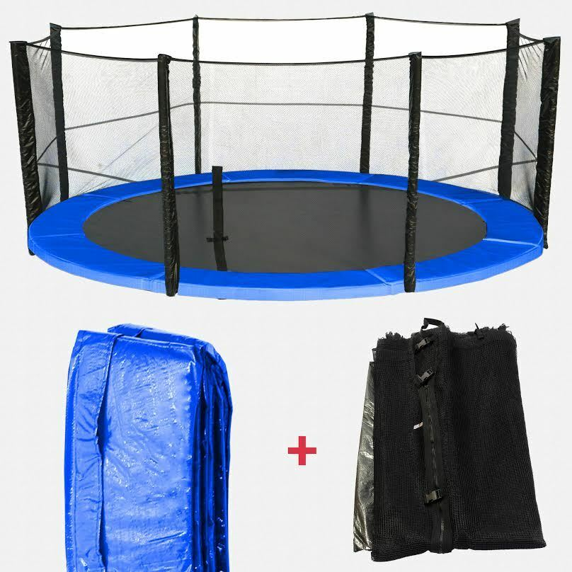 10 12 14 15 Trampoline Replacement Pad Pading Safety Net: Trampoline Spring Cover Padding & Safety Net Bundle