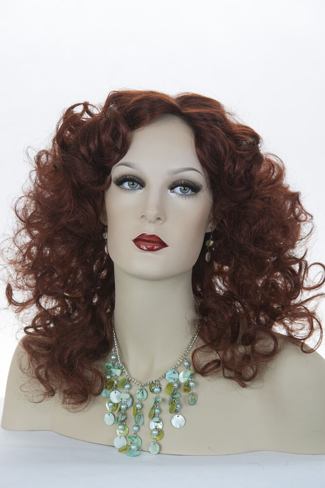 Burgundy Red Red Long Medium Curly Skin Top Wigs Ebay