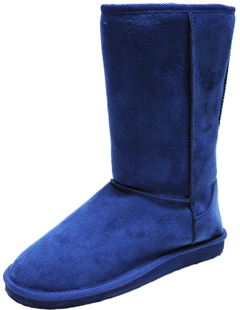 New women's shoes mid shaft boot faux fur suede like ...