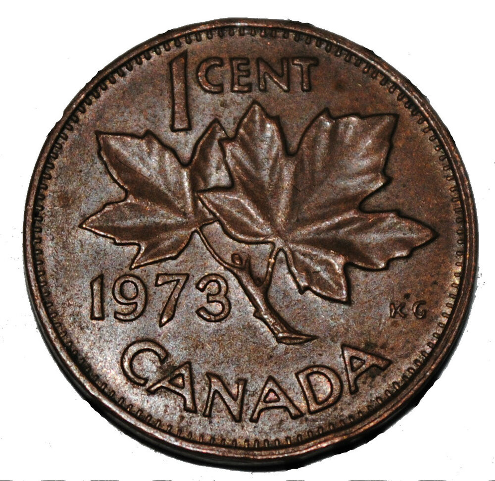 Canada 1973 1 Cent Copper One Canadian Penny Coin Ebay