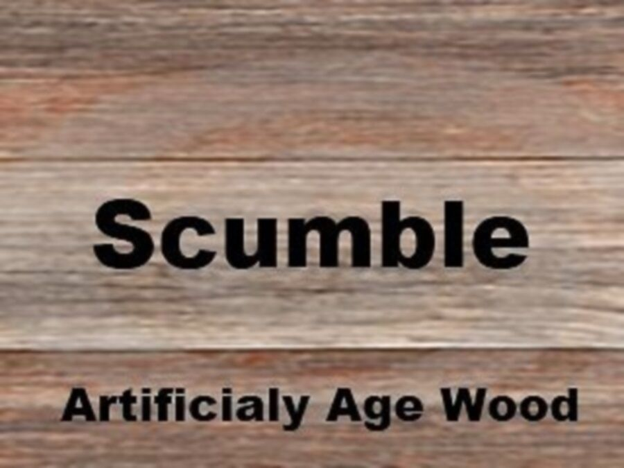 Scumble Crystals Ages Pine To Look Like Oak Ideal Wood