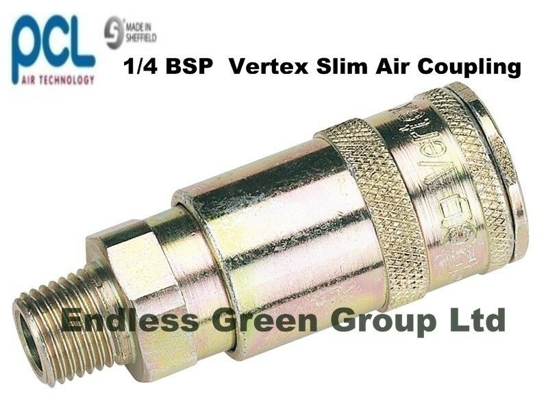 Pcl air compressor fittings male slim line quick coupling