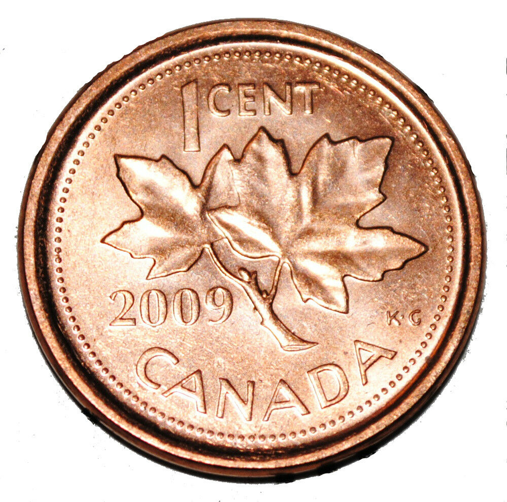 Canada 2009 L 1 Cent Zinc One Canadian Penny Coin Logo M Non Magnetic Ebay