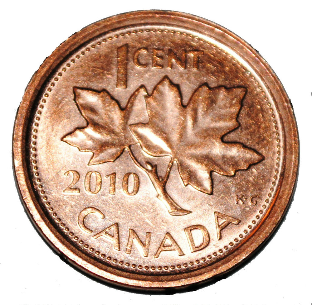 Canada 2010 L 1 Cent Zinc One Canadian Penny Coin Logo M Non Magnetic Ebay