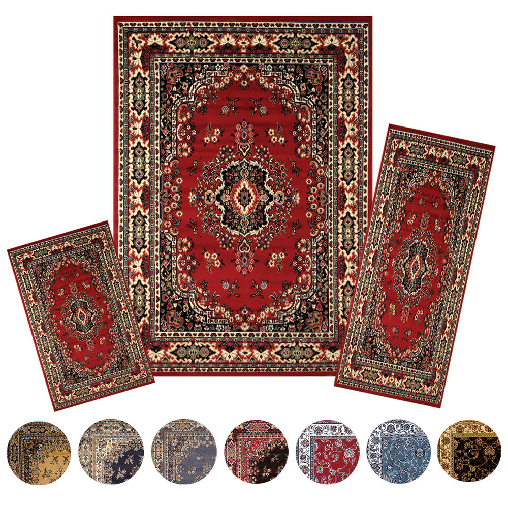 traditional medallion 3 pcs area rug 87781