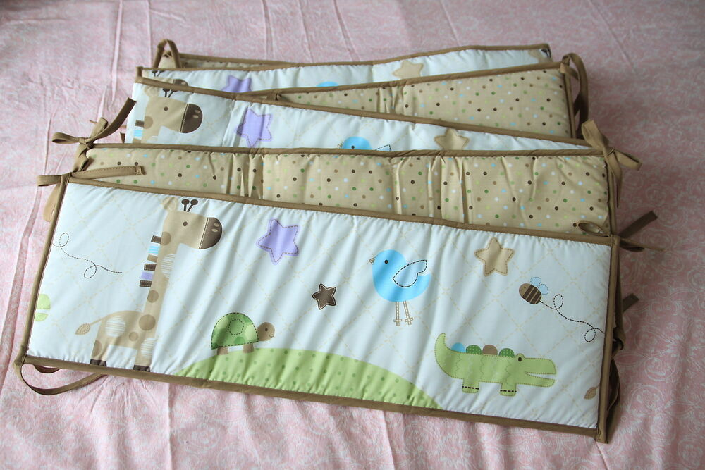 Baby Crib Cot Bassinette Bumper Pad Padded Amp Quilted Full