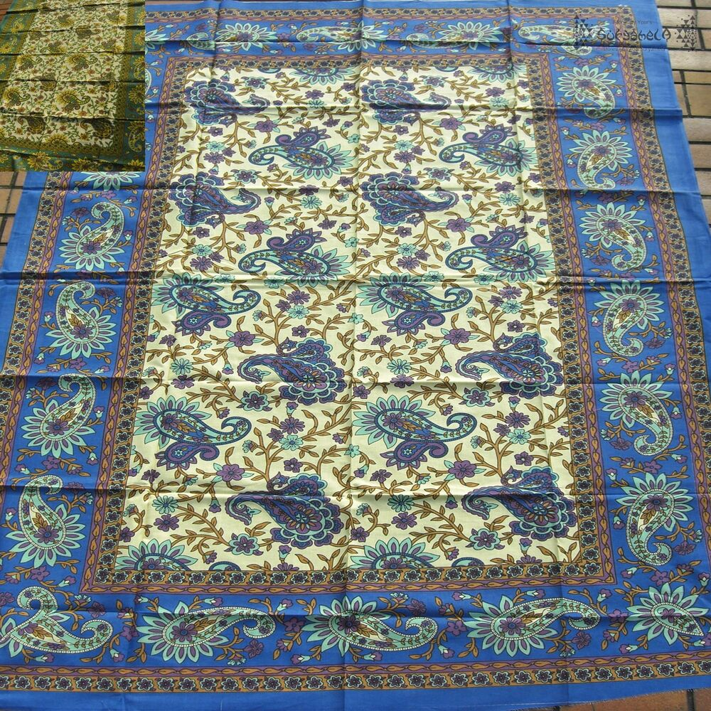 Tagesdecke wandbehang paisley floral indien inde couvre for Tagesdecke paisley