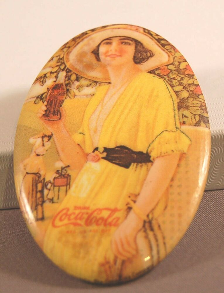 Coca Cola Advertising Pocket Mirror 1973 Memorabilia By