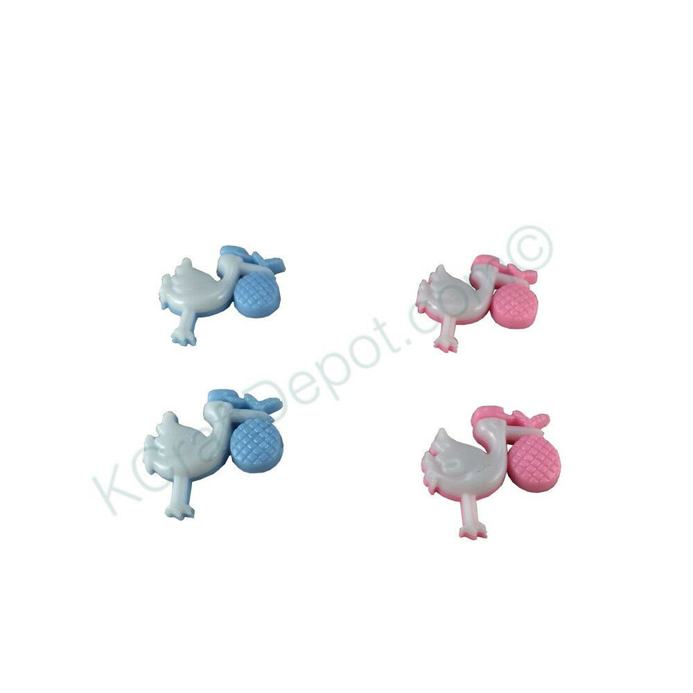 1 plastic stork baby shower charm game party decoration for Baby shower stork decoration