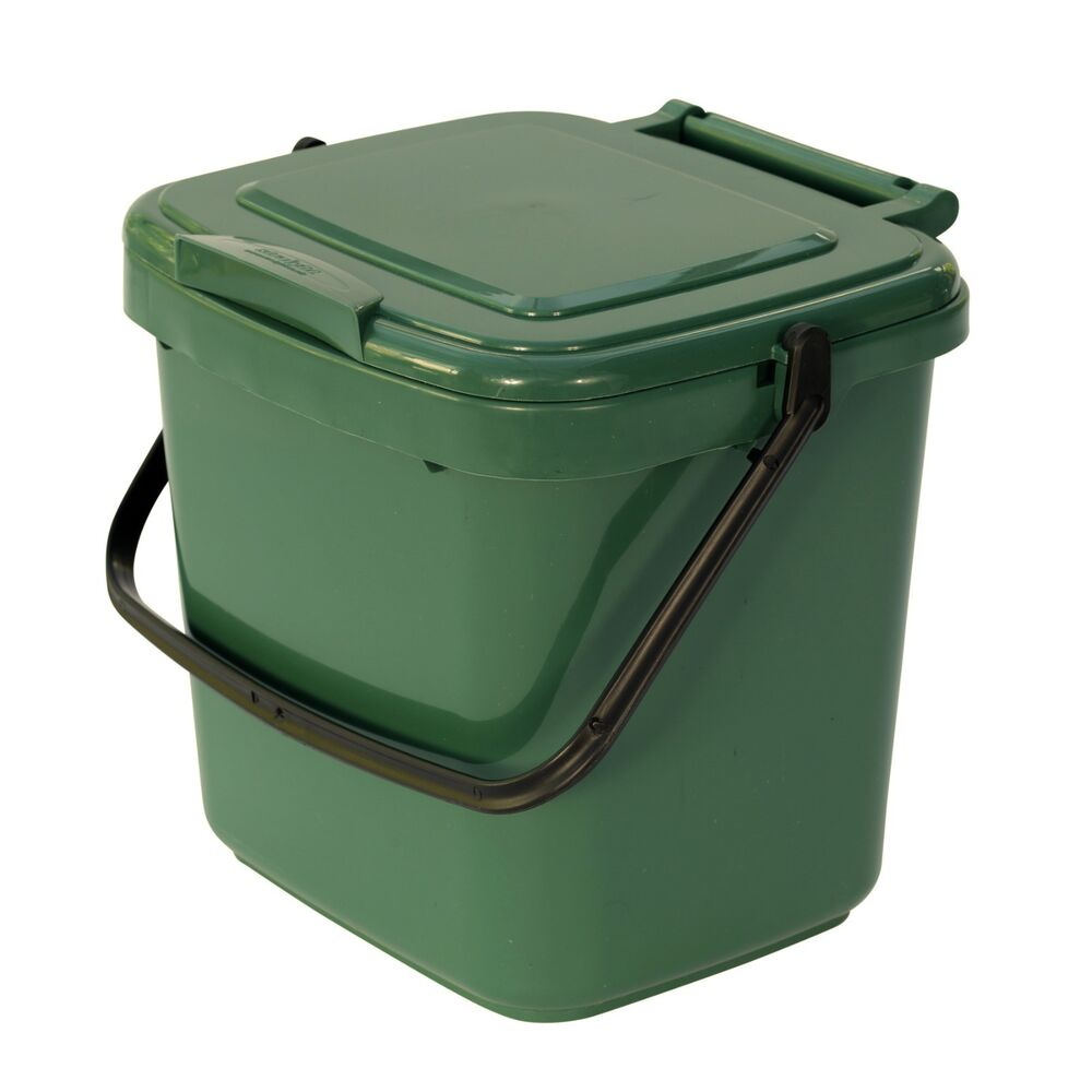 green kitchen compost caddy food waste recycling 7 litre ebay rh ebay co uk